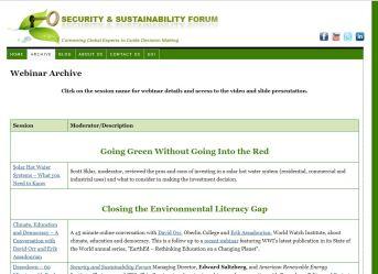 Security-Sustainability-Forum